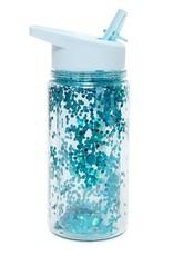 Petit Monkey Drinking bottle glitter dusty blue