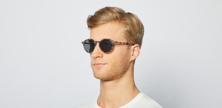 Izipizi Sunglasses #D Blue Tortoise Grey lenses