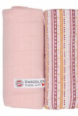 Lodger Swaddler print/solid 2 pack sensitive/stripe