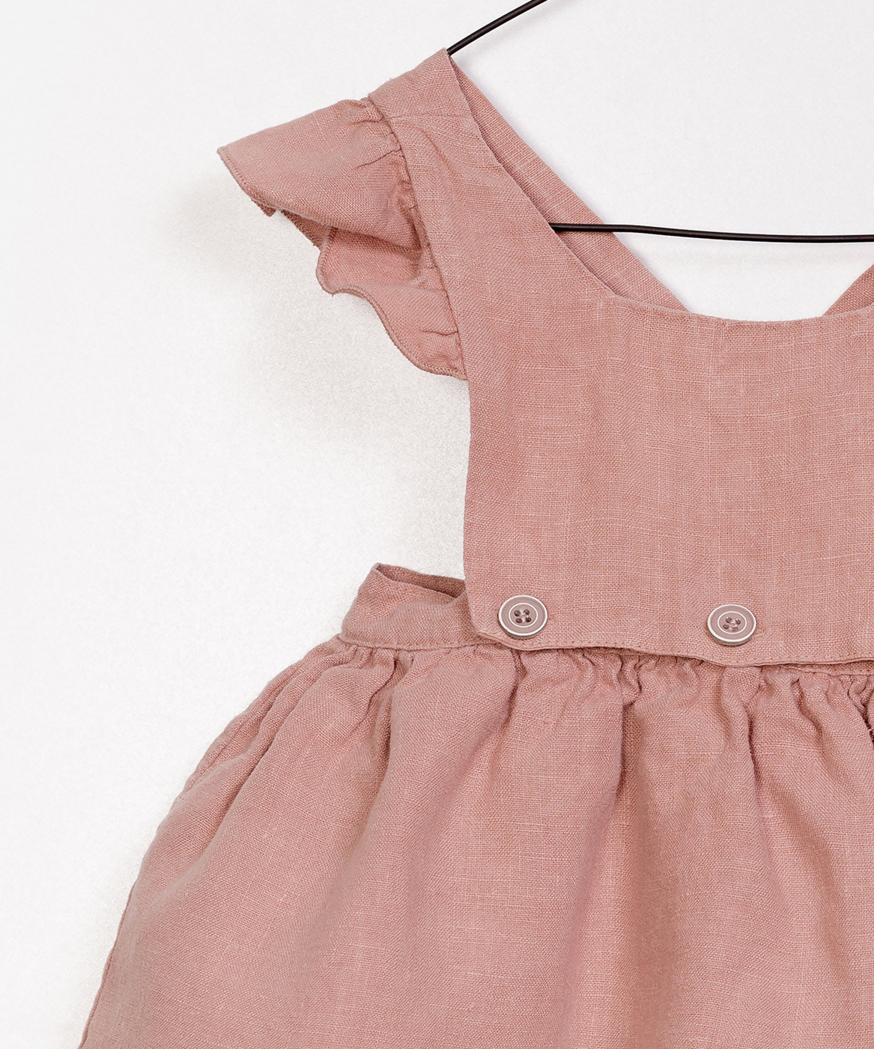 Play-up Linen Dungaree Skirt