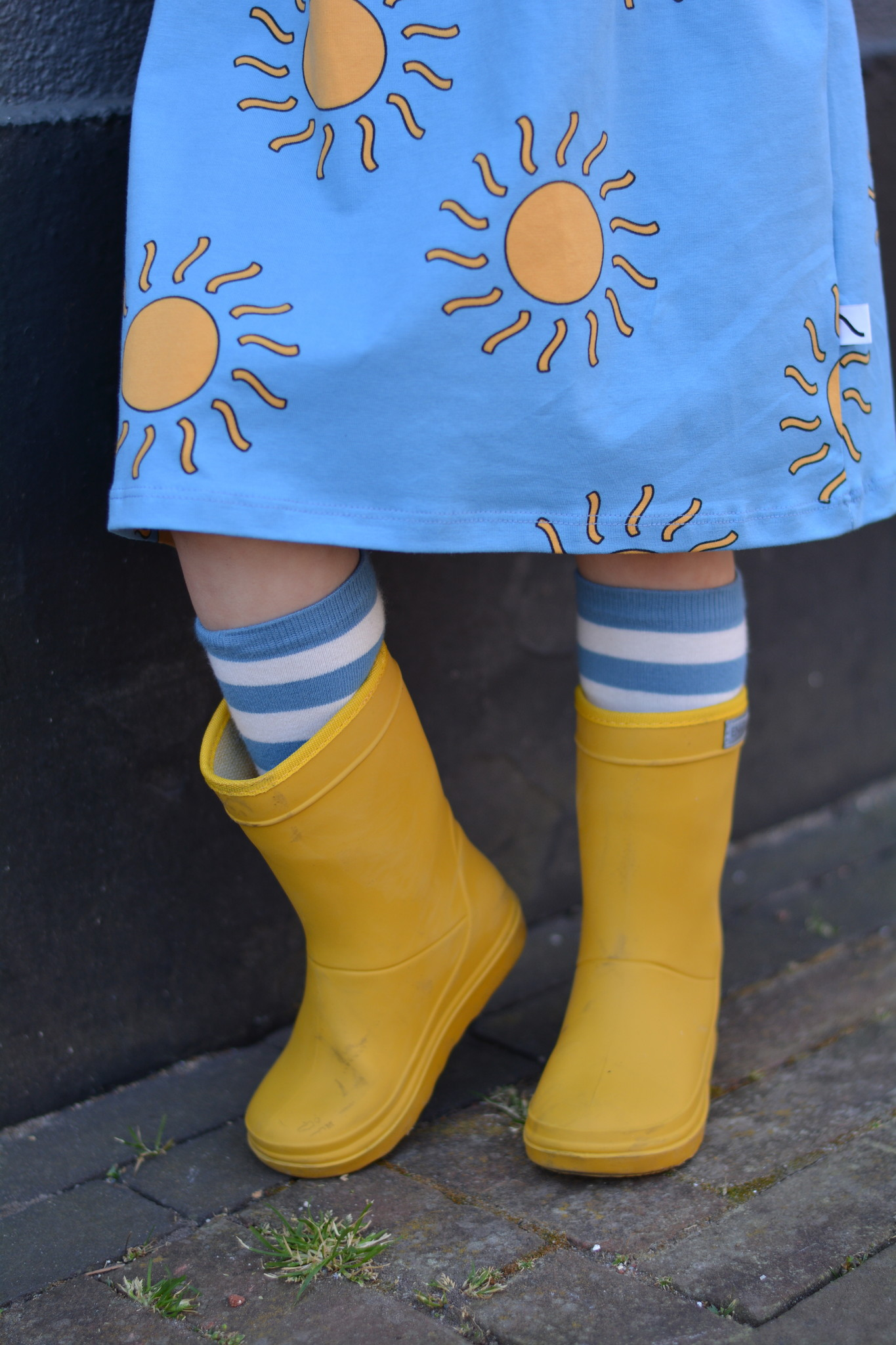 CarlijnQ Knee socks blue/yellow