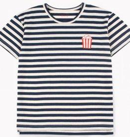 Tiny Cottons Popcorn stripes ss tee cream/navy