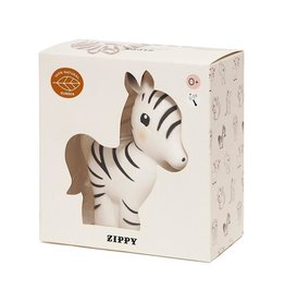 Petit Monkey Rubber toy zippy the zebra