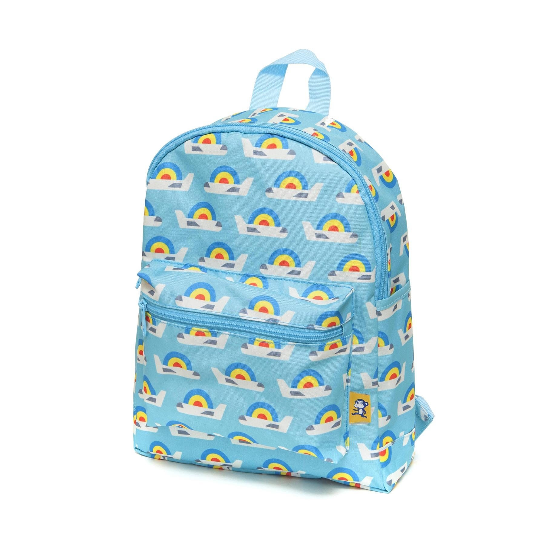 Petit Monkey Backpack airplanes blue