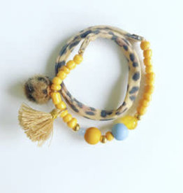 Feest-beest Luipaard Ibiza armband