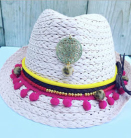 Feest-beest Strand hoed ibiza licht roze