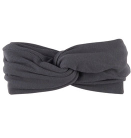 CarlijnQ Basics twisted headband | grey