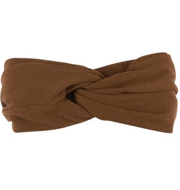 CarlijnQ Basics twisted headband | brown