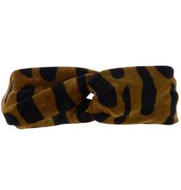 CarlijnQ Bark twisted headband velvet