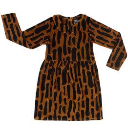 CarlijnQ Bark collar dress velvet