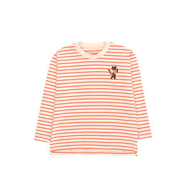 Tiny Cottons Stripes LS tee light cream|red
