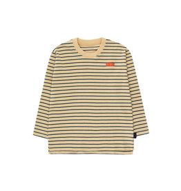 Tiny Cottons Stripes LS tee sand|true navy