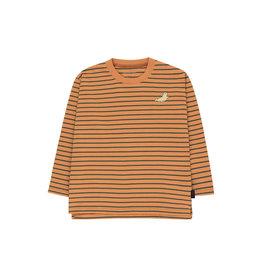 Tiny Cottons Stripes LS tee brown|bottle green *4jaar