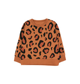 Tiny Cottons Animal print sweatshirt brown|dark brown