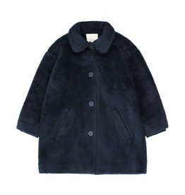 Tiny Cottons Faux fur coat true navy