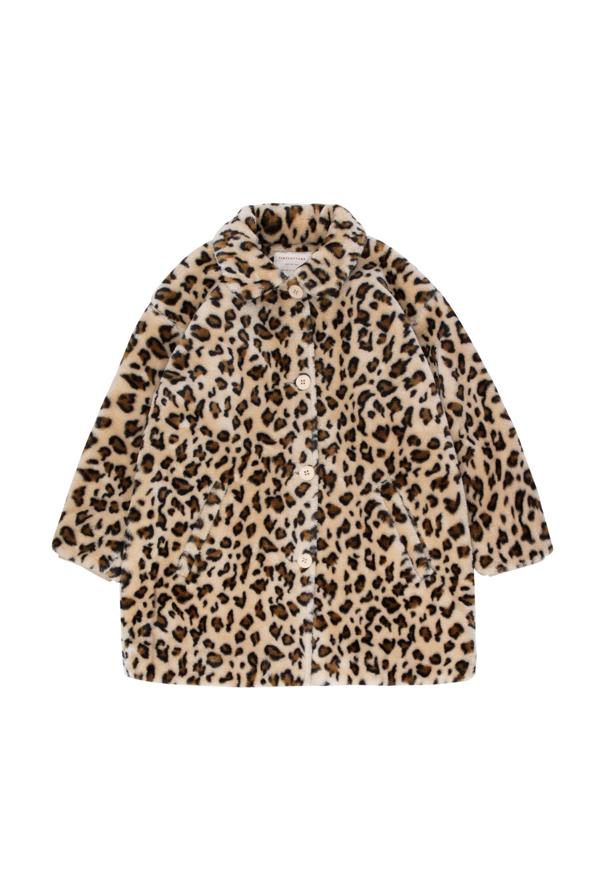 Tiny Cottons Faux fur coat light cream | brown