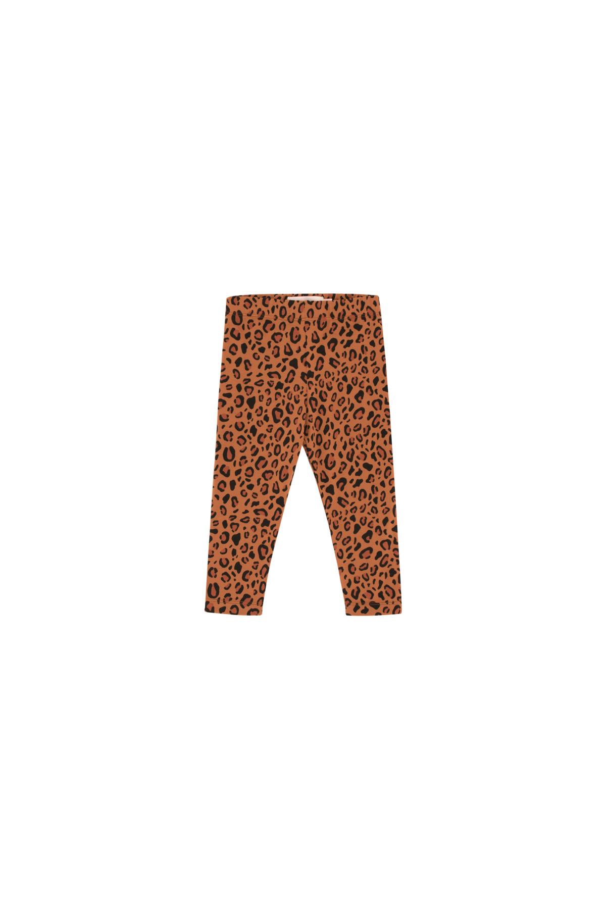 Tiny Cottons Animal print pant | brown/dark brown