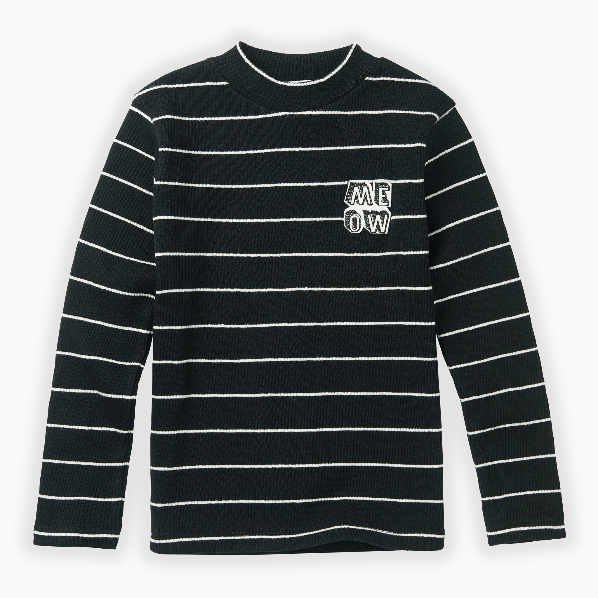 Sproet & Sprout Turtle neck t-shirt stripe | black