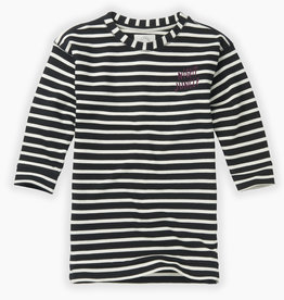 Sproet & Sprout Sweat dress y/d stripe | black