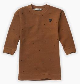 Sproet & Sprout Sweat dress dots | mocha