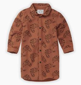 Sproet & Sprout Woven shirt dress chameleon aop | ginger