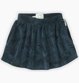 Sproet & Sprout Velvet skirt tropical aop | moonlight