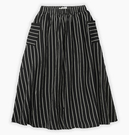 Sproet & Sprout Woven long skirt stripe   black