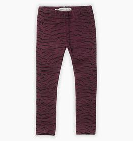 Sproet & Sprout Swater legging tiger aop | burgundy