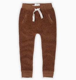 Sproet & Sprout Velvet sweaterpants dots | mocha