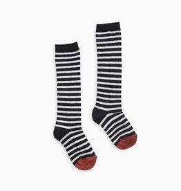 Sproet & Sprout High sock stripe | black stripe