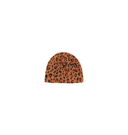 Tiny Cottons Animal print baby hat | brown/dark brown