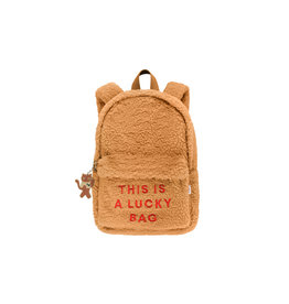 Tiny Cottons Sherpa backpack | brown