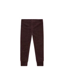 Mingo Legging velvet rib | bitter chocolate