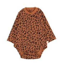 Tiny Cottons Animal print ls body | brown/dark brown