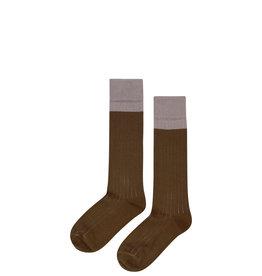 Mingo Knee socks | taupe/kangaroo