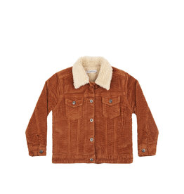 Mingo Oversized jacket corduroy/peluche | leather brown/off white