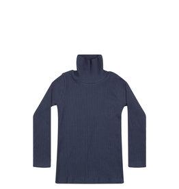 Mingo Turtle neck rib jersey | indigo