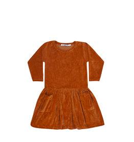 Mingo Dress velvet | leather brown