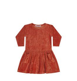 Mingo Dress velvet | redwood