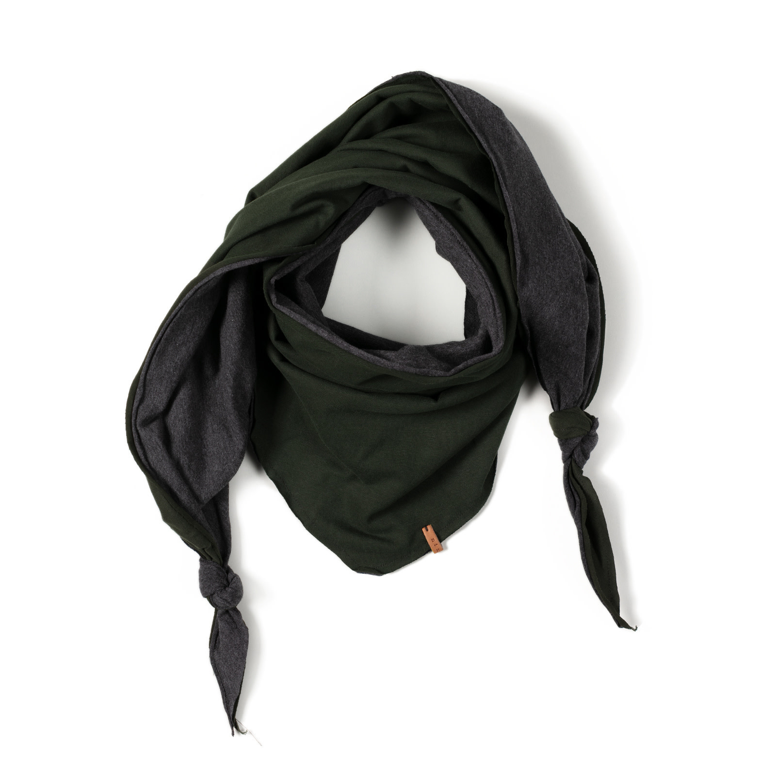 Nixnut Triangle scarf   deep moss