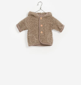 Play-up Plush hooded jacket | magical 3 knopen