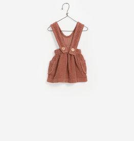 Play-up Corduroy dungaree skirt | jam