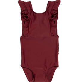 Maed for mini Bordeaux badger swimsuit
