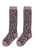 Maed for mini Lilac leopard knee sock
