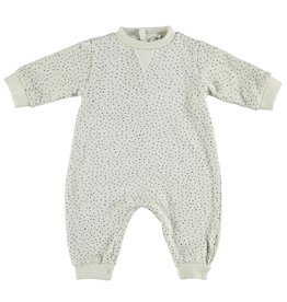 piupiuchick Baby jumpsuit ecru with black dots