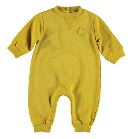 piupiuchick Baby jumpsuit mustard with logo print