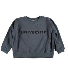 piupiuchick Sweatshirt anthracite with 'university' print
