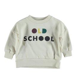 piupiuchick Sweatshirt ecru with 'old school' print