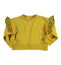 piupiuchick Sweatshirt with frills on shoulders | mustard