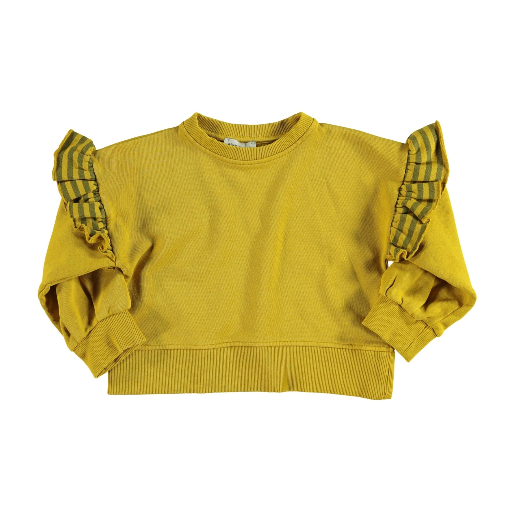 piupiuchick Sweatshirt with frills on shoulders | mustard